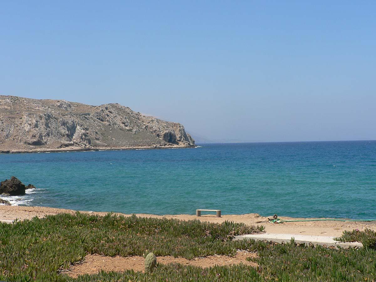 uitzicht vanuit Eleni studios